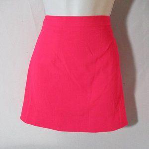 NEW CHRISTOPHER KANE CREPE Mini Skirt NEON